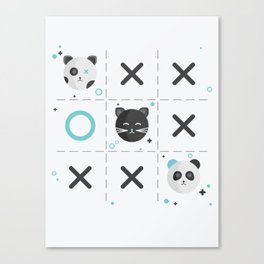 Tic-Tac-Toe Canvas Print