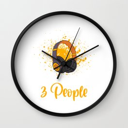 Sarcastic Genre Musical Sounds Music Collection T-shirt Design Like Music More And Maybe 3 People Wall Clock