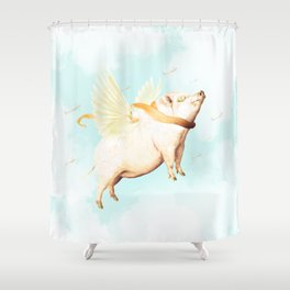 The Red Bacon Shower Curtain