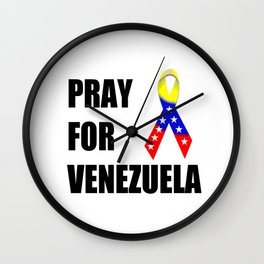 Pray for Venezuela  Wall Clock