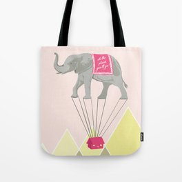 Fly Elephant Oh the places you'll go Tote Bag