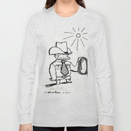 Cowboy Ape with Giant Tie Long Sleeve T-shirt