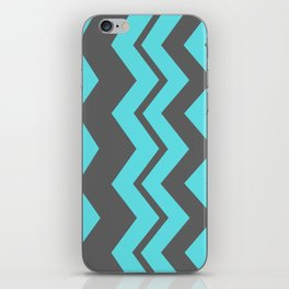Chevron Pattern - Blue/ Smoke Gray iPhone Skin