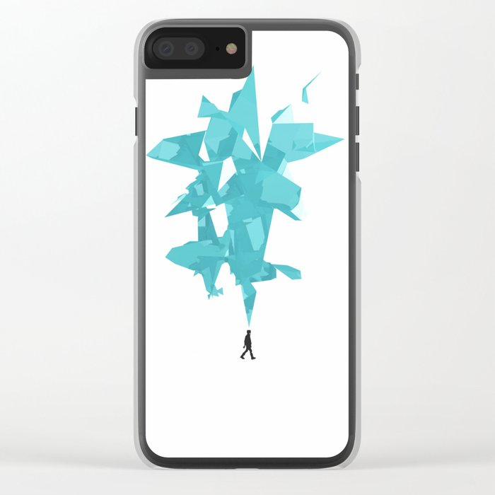 Never Alone Clear iPhone Case