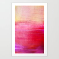 tequila Art Prints featuring Tequila sunrise by Iris Lehnhardt