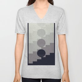 up-and-down Unisex V-Neck