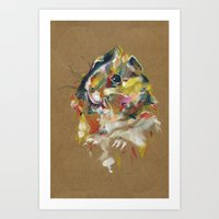 guinea pig Art Prints featuring Guinea pig I by Nuance