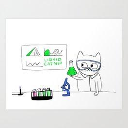 The Science of Cat Nip Art Print
