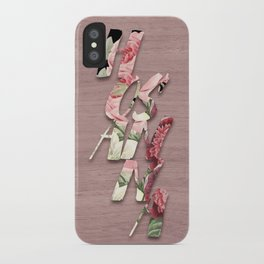 H O S A N N A  |  Vintage Floral Wood iPhone Case