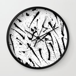 White with Black Wall Clock