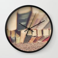 library Wall Clocks featuring The Library by Jessica Torres Photography