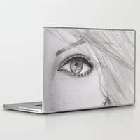 emma stone Laptop & iPad Skins featuring Emma Stone Drawing by Olivia Scotton