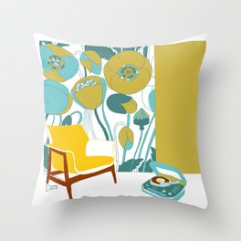 The yellow chair Throw Pillow