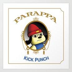 Parappa - Kick Punch Art Print