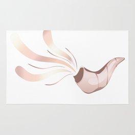 Jewish shofar rose gold Rug