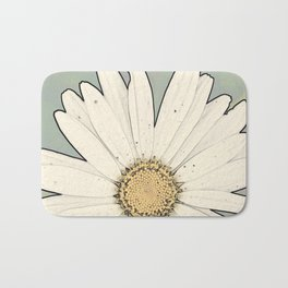 Flower   Flowers   Big White Daisy Bath Mat
