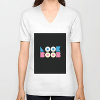 boobs V-neck T-shirts featuring look at boobs! by ragno design