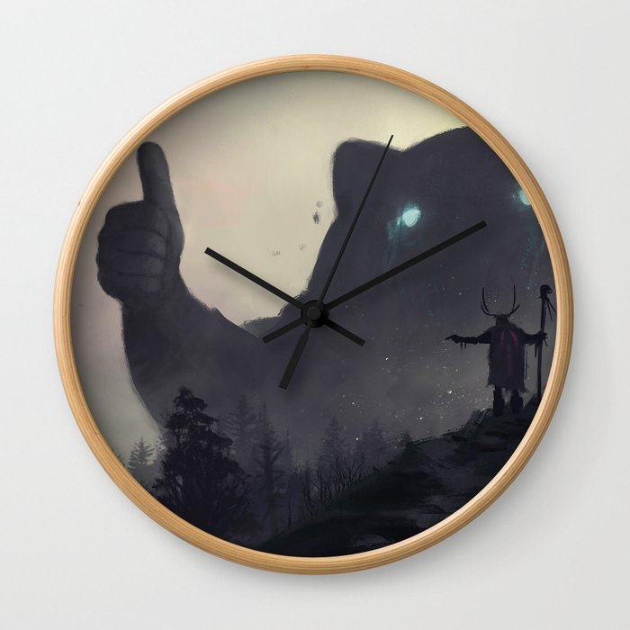 yo bro is it safe down there in the woods? yeah man it's cool Wall Clock
