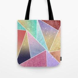 Modern elegant geometrical pink lilac gold glitter pattern Tote Bag