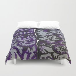 Purple Brains or I have a lot on my mind... Duvet Cover