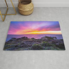 California Dreaming - Brilliant Sunset in Big Sur Rug