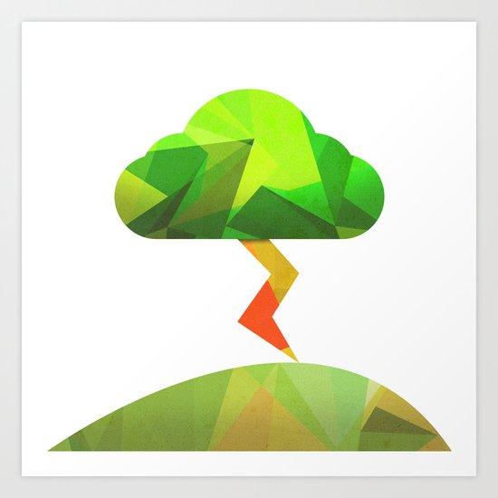 The Weather Tree Art Print
