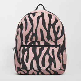 Girly pink rose gold black zebra animal print Backpack