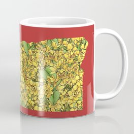 Oregon in Flowers Coffee Mug