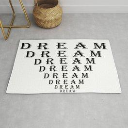 Dream Motivation Eye Chart Rug