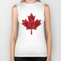 canada Biker Tanks featuring O Canada by Fimbis