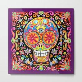 Sugar Skull Art by Thaneeya McArdle (Memento Mori) Metal Print