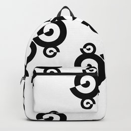 Black and White Shells Pattern Backpack