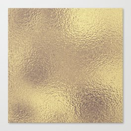 Simply Metallic in Antique Gold Canvas Print