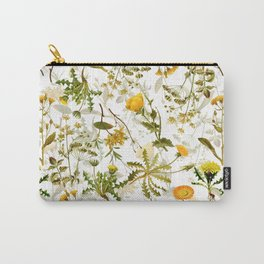 Vintage & Shabby Chic - Yellow Wildflowers Carry-All Pouch