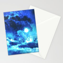 Blue on Moon Stationery Cards