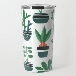 House plant pattern Travel Mug
