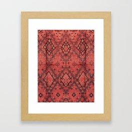 Traditional Moroccan Berber Design Style D13 Framed Art Print
