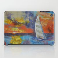 sailboat iPad Cases featuring Sailboat by Michael Creese