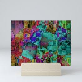 Abstract Hexagons Mini Art Print