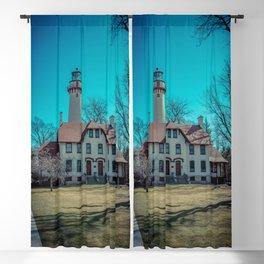 Evanston Illinois Gross Point Lighthouse Lake Michigan Light Station Blackout Curtain