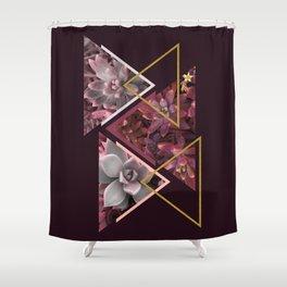 Wine Succulents Shower Curtain