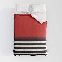 Red Blue: Black & White Stripe Comforters