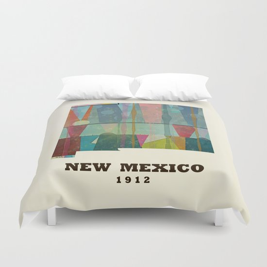 new mexico map modern Duvet Cover