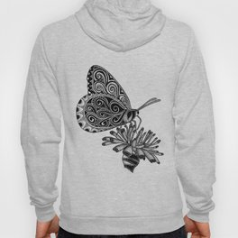 Tangled Butterfly on White Hoody