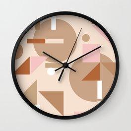 Palm Springs Pattern Wall Clock