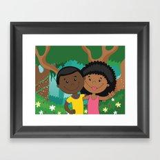 Love in the woods Framed Art Print