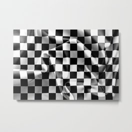 Chequered Flag Metal Print