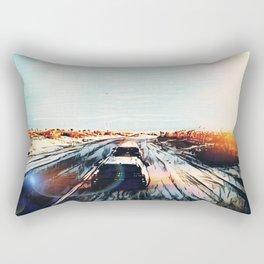 Evaporating Saguaro Sunset Rectangular Pillow