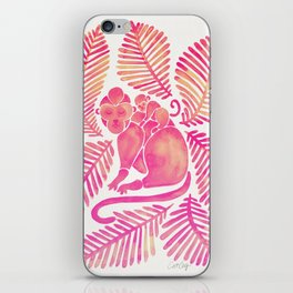 Monkey Cuddles – Pink Palette iPhone Skin
