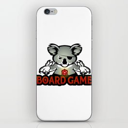 koala playing dice iPhone Skin